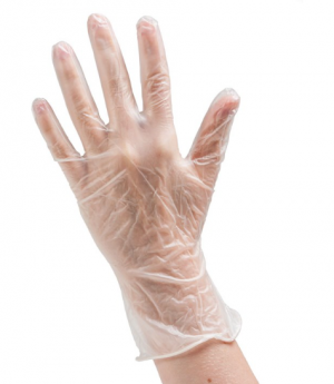 PPE Vinyl Disposable Gloves - Powder Free - Clear