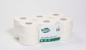 Toilet Roll - Mini Jumbo - White - Premium