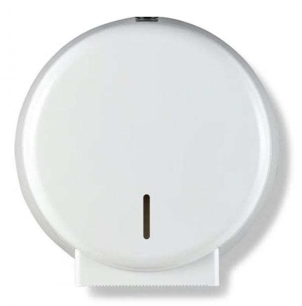 Mini Jumbo Toilet Roll Dispenser White for the commercial sector