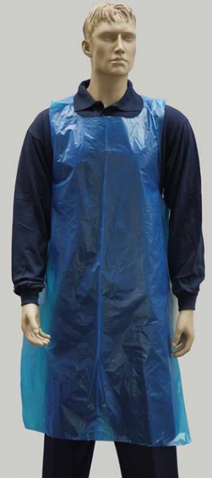 PPE Blue Polythene Apron - PPE Suppliers