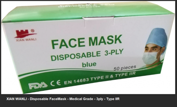 Disposable Face Masks – 3 Ply – Surgical